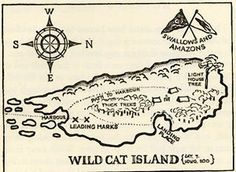 map Swallows and Amazons