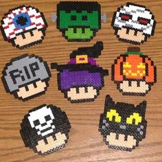 Halloween mushrooms hama beads by whatwelike_wwl