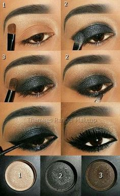 Smokey Eyes: 17 Tutorials die Sie lieben werden Black Smokey Eye Die Eyes lieben Sie Smokey Tutorials werden hacks for teens girl should know acne eyeliner for hair makeup skincare Love Makeup, Makeup Looks, Makeup Pics, Dark Makeup, Makeup Geek, Makeup Box, Full Makeup, Makeup Names, Golden Makeup