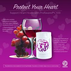 The USANA Proflavanol-C 100 is a grape seed extract using the highest quality ingredients combined with vitamin C. It is anti-inflammatory, good for heart health and much more. Heart Health Supplements, Best Supplements, Natural Supplements, Nutritional Supplements, Health Vitamins, Health And Nutrition, Health And Wellness Quotes, Grape Seed Extract, Cardiovascular Health