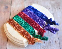 Hey, I found this really awesome Etsy listing at https://www.etsy.com/listing/122274081/glitter-hair-ties-5-pack-primary-pack