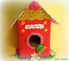 Casa de passarinho reciclada