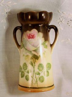 Victorian Hyacinth Bulb Forcing Porcelain Vase Cecch Slovakia Rose Design | eBay