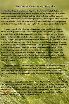 Suc din Grau verde – leac miraculos Metabolism Boosting Foods, Sheet Music, Medical, Health, Health Care, Medicine, Med School, Music Sheets, Active Ingredient