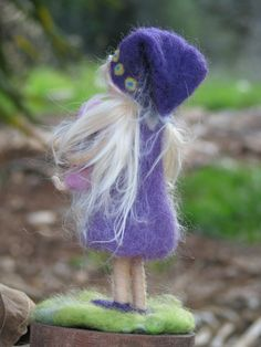 Needle felted waldorf inspired girl with doll by Made4uByMagic