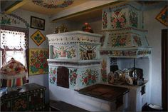 Inside a house . Old World Kitchens, Home Kitchens, Inside A House, Interior Decorating, Interior Design, Interior Photo, Decorating Ideas, Hand Painted Walls, Sweet Home