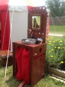 Build Your Own Camp Sink With Running Water: Materials and Plans - Pennsic Woodworking - - Honor Before Victory