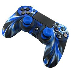 DOTBUY PS4 Controller Cover Flexible Silicone Protective Case Skin for Sony PlayStation 4 DualShock Controllers (Camo Blue)