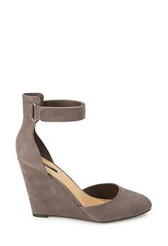 Faux Suede Strappy Wedges | FOREVER21 - 2000101387 nude color please