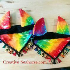 Horse Fly Bonnet Rainbow Tie Dye by CreativeSeaHorse on Etsy