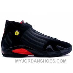 c3de3615560e Air Jordan Retro 14 Last Shot Black Black Varsity Red 311832-002 TGSbT