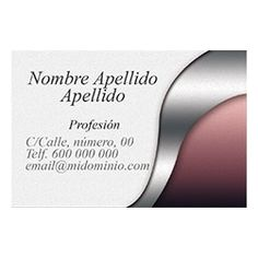 Tarjetas de Visita Una Cara Horizontal Lofty Milk Blush, Beauty, Business Cards, Faces, Rouge, Beauty Illustration