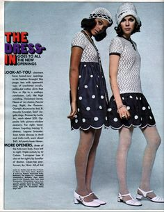 Seventeen Magazine - March, 1969 Fashion - love the scalloped hem and the 20s inspiration