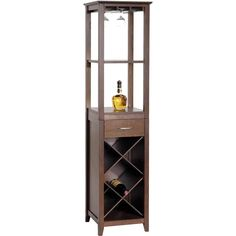 I would love to add this to my Dining Room to corrall the liquor bottles! - Avalon Wine Tower 40 X 40 X 167 Cm Espresso | Kitchen Stuff Plus