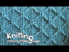 Slip Stitch Knitting #1: Trellis stitch - YouTube