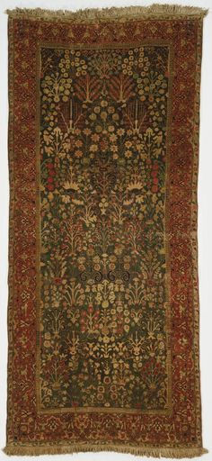 Philadelphia Museum of Art - Collections Object : Shrub Rug Shrub Rug Artist/maker unknown, Iranian or Persian Geography: Made in Kirman, Iran, Asia
