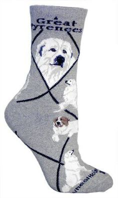 Casual Great Pyrenees Humor Socks Cotton Dress Socks For Men Women