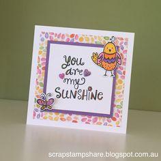 Scrap Stamp Share: Sunshine Birdies- March SotM Australasian Blog Hop