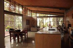 Skillion roof living space