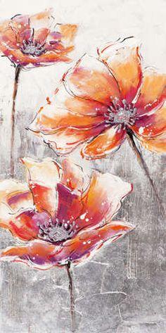 New+Life+Collection+-+Beruhigende+Blüten+I+-+handgemaltes+Leinwandbild+günstig+kaufen+-+auch+auf+Rechnung!
