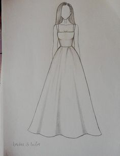 Fashion design sketches 797559415249110676 - Dress Drawing Sketches Beautiful Source by Dress Design Drawing, Dress Design Sketches, Fashion Design Sketchbook, Girl Drawing Sketches, Art Drawings Sketches Simple, Dress Drawing, Fashion Design Drawings, Pencil Art Drawings, Fashion Sketches