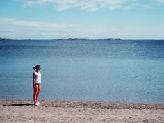 Beach and the sea in Hanko