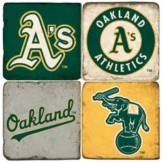 Oakland Athletics-Hand made Marble coasters
