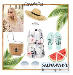 """summer brights!"" by aulyputri on Polyvore featuring New Directions, Jimmy Choo, Garrett Leight, Kate Spade and Mark & Graham"