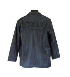 Sopranos Leather Coat Jacket Black New Men Size Large HBO Winter Zip Out Liner #HBO #BasicCoat
