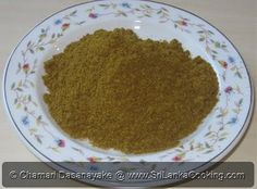 INGREDIENTS: 6 tablespoons coriander seeds 2 tablespoons cumin seeds 1 teaspoon fennel seeds 1 teaspoon mustard seeds 1 x cinnamon st. Jamaican Recipes, Spicy Recipes, Indian Food Recipes, Cooking Recipes, Indian Foods, Sri Lankan Curry, Sri Lankan Recipes, Curry Dishes, Powder Recipe
