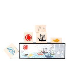 Love this Sea Stamp Set by Yellow Owl Workshop on #zulily! #zulilyfinds
