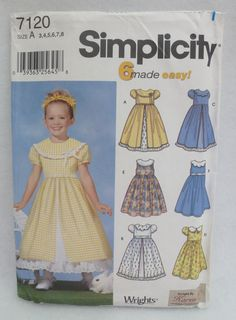 Pattern Girls Dresses by OhSewFun1 on Etsy, $7.95