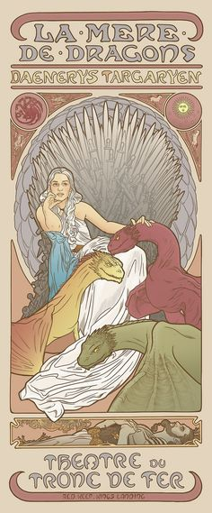 Women of Game of Thrones In Beautiful Mucha-Style Posters