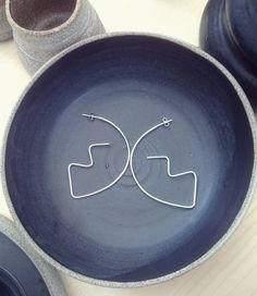 Minimalist Sterling Silver Geometric Earrings