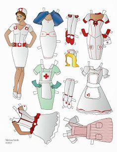 Miss Missy Paper Dolls: Nurse Paper Doll