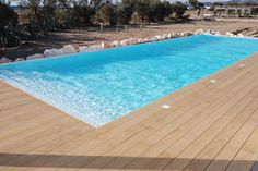 Accoya® deck boards, supplied by Atlas Wood were installed at a private residence in Greece. #accoya #wood