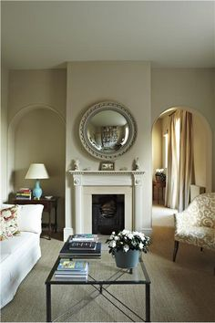 An inspirational image from Farrow and Ball Stony ground walls and clunch ceiling