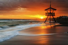 Recovered - tramonto lido di Latina