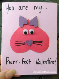 You are my purr-fect Homemade Valentine Card