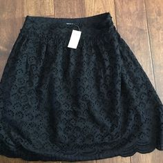 Black Eyelet Skirt LINED & NWT. Great for work! Beautiful black eyelet skirt fully lined and is certainly very well made. It is work appropriate for most level office positions. It is not a mini skirt. It is lovely and needs a new home so it can be worn. Arden B Skirts Midi