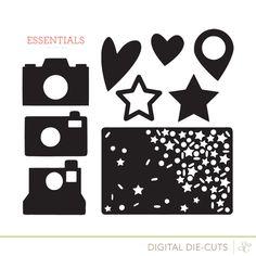 Essentials Cut Designs at @studio_calico. Hearts, stars, cameras. *