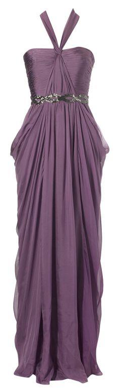 Chiffon halter strap beaded maxi dress Purple from House of Fraser