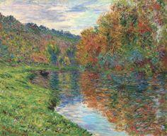 bofransson:    Claude Monet (1840-1926)  Le bras de Jeufosse, Automne