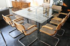 Tobia Scarpa dining table and Cesca chairs