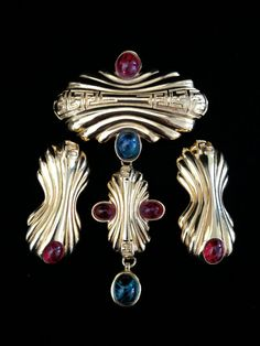 Outstanding Vintage Fendi Brooch and Earrings by Vintageimagine, $300.00