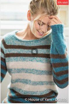 no - gemma genser denim Knitting Basics, Hand Knitting, Knit Vest Pattern, Knitting Patterns, Mohair Sweater, Pullover, Sweater Design, Knit Fashion, Knitting Designs