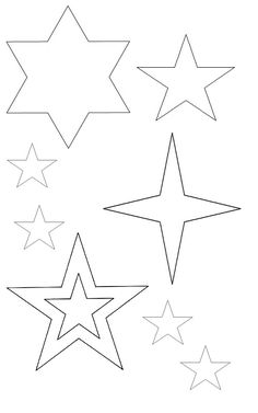 1000 ideas about star template on pinterest applique patterns