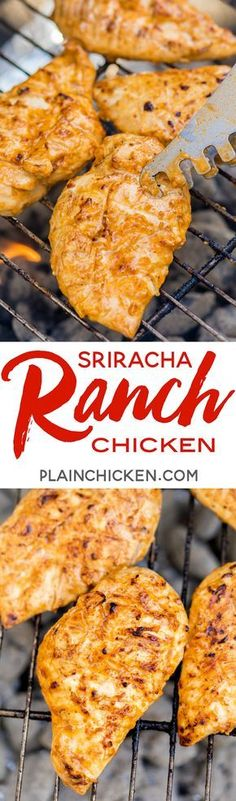 Sriracha Ranch Grilled Chicken Recipe