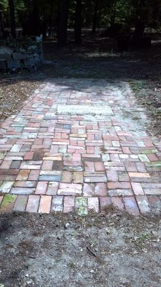 Little brick pathways start nowhere and end nowhere.  They occupy space.  Artists can understand this, others ask why all the trouble?