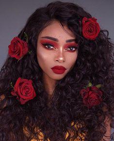 Temper ® - Nyane Lebajoa Hair Styles and Wigs Temperhair Nyané Makeup Goals, Makeup Inspo, Makeup Art, Makeup Inspiration, Beauty Makeup, Eye Makeup, Hair Makeup, Hair Beauty, Makeup Drawing